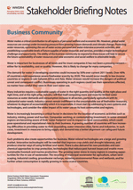 WWDR4 Stakeholder Briefing Notes: Business Community