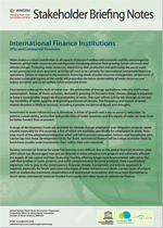 WWDR4 Stakeholder Briefing Notes: International Finance Institutions