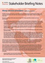 WWDR4 Stakeholder Briefing Notes: Water service providers