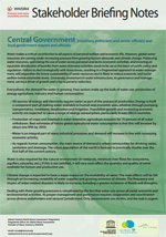 WWDR4 Stakeholder Briefing Notes: Central Government and local government mayors and officials