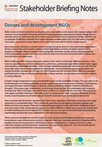 WWDR4 Stakeholder Briefing Notes: Donors and development NGOs