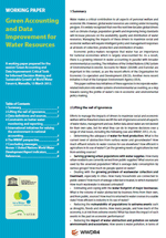 Green Accounting and Data Improvement for Water Resources. Working paper