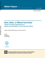 More, Better, or Different Spending? Trends in Public Expenditure on Water and Sanitation in Sub-Saharan Africa
