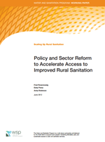 Policy and Sector Reform to Accelerate Access to Improved Rural Sanitation