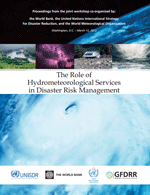 (The) Role of Hydrometeorological Services in Disaster Risk Management