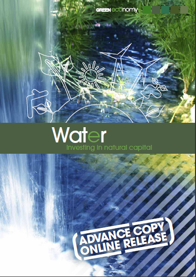 Towards a Green Economy: Pathways to Sustainable Development and Poverty Eradication. Chapter on 'Water. Investing in natural capital'