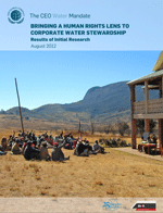 Bringing a Human Rights Lens to Corporate Water Stewardship: Results of Initial Research