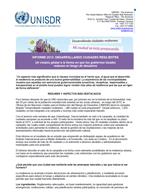 Informe 2012: Desarrollando ciudades resilientes. Resumen ejecutivo