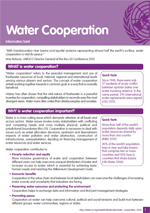 Information brief on Water Cooperation