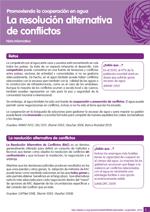 Nota informativa sobre la resoluci�n alternativa de conflictos