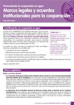 Nota informativa sobre marcos legales y acuerdos institucionales para la cooperaci�n
