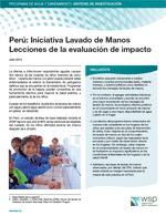 Perú: Iniciativa Lavado de Manos. Lecciones de la evaluación de impacto. Resumen