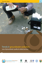 Trends in groundwater pollution: loss of groundwater quality and related aquifers services