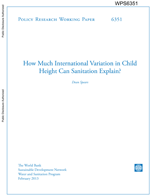 How Much International Variation in Child Height Can Sanitation Explain?