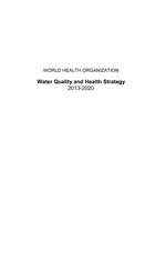 Water Quality and Health Strategy 2013-2020
