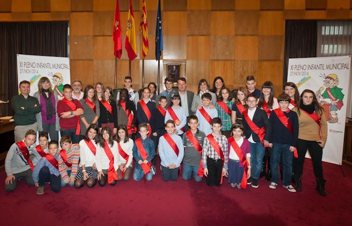 XI Pleno Infantil del Ayuntamiento de Zaragoza 2014
