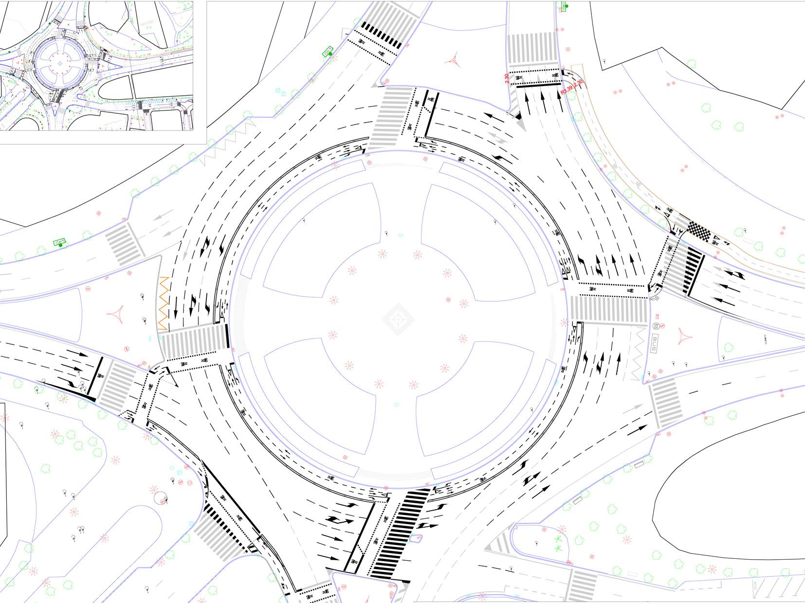 Plano rotonda plaza Europa