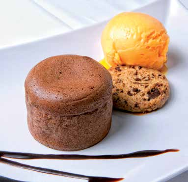 Coulant de chocolate con helado
