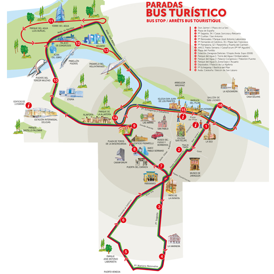 Ayuntamiento de Zaragoza Zaragoza Turismo Recorrido del Bus