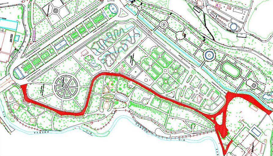 Mapa Parque Grande Zaragoza.Ayuntamiento De Zaragoza Noticias Un Concurso De Ideas Mejorara El Nuevo Pavimento Del Paseo De Los Platanos Del Parque Grande